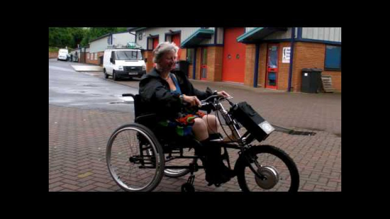 TEAM HYBRID Handcycles Jo and her first ride of her Viper power cycle