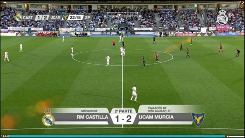Реал Кастилья UCAM Мурсия 1 2 2 4 общий гол Пальяреса