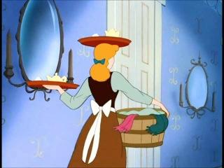 Cinderella being bossed around by her Stepmother