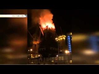 Высочайший небоскреб Центральной Азии «Абу-Даби Плаза» вспыхнул как спичка в Астане