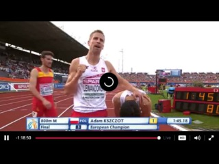 Men's 800m Final European Athletics Championship 2016