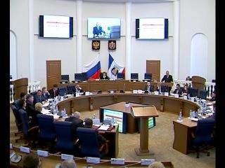 Главным событием дня стал отчет губернатора Сергея Митина перед депутатами областной Думы