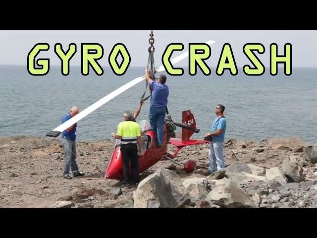Gyroplane Gyrocopter Crash Emergency landing