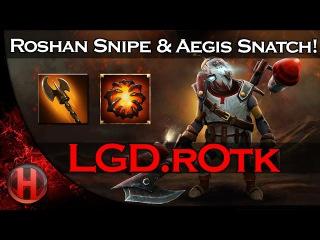 Amazing Roshan Snipe & Aegis Snatch vs. Alliance Dota 2