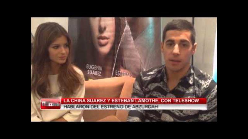 La china Suárez y Esteban Lamothe habló con Teleshow sobre Abzurdah