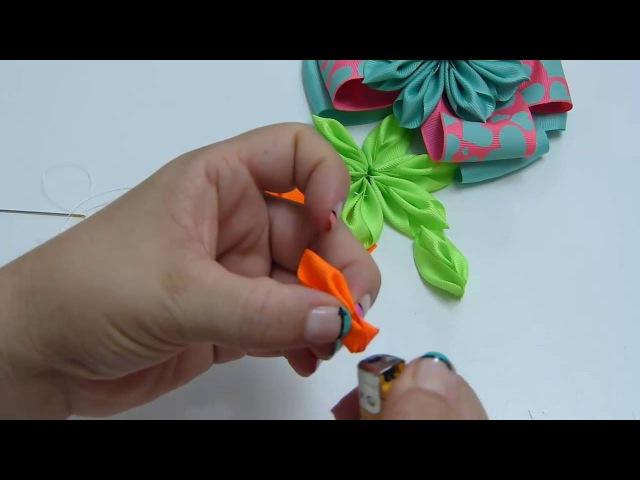 Como hacer 1 lazo y Flor súper fácil , Flores fáciles listón Manualidadeslahormig 🎬 630.