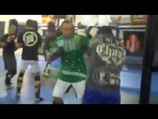 Wanderlei Silva gets ANGRY and goes HARD in a sparring session