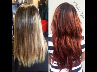 Ecaille RED Mahogany Color| Hair  Transformation