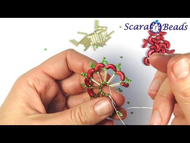 DIY Новогодние Идеи Снежинка Из Бусин Arcos par Puca и Стекляруса