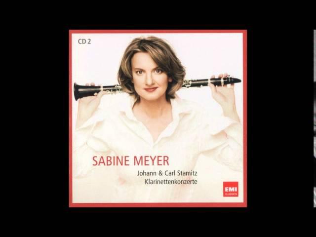 Jan Václav Stamic (Stamitz) Clarinet Concerto in B flat major, Sabine Meyer