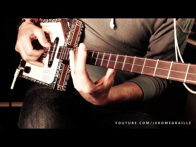 BLUES JAM CIGAR BOX GUITAR BY JEROME GRAILLE