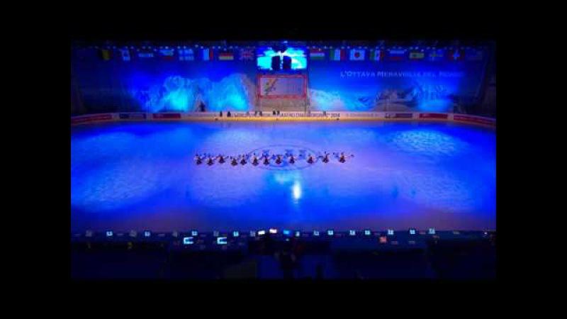 World Synchronized Skating Championships 2014 - Opening Cerimony - Swimmers