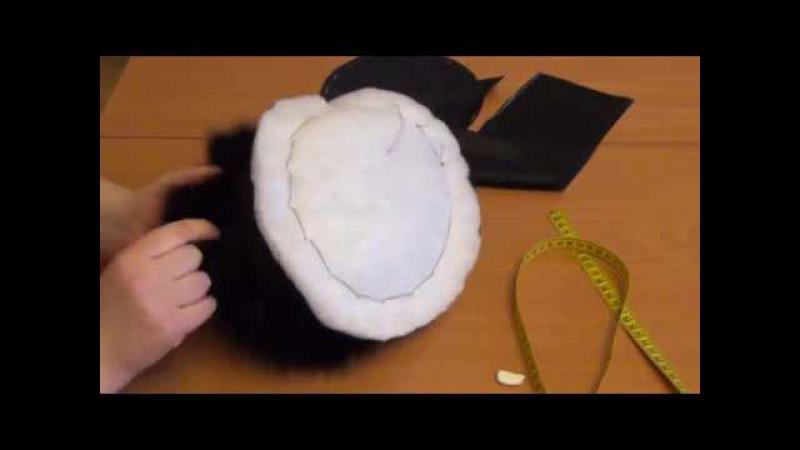 меховая зимняя шапка за 3 часа
