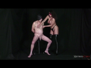 Mistress carly - caged cock slave