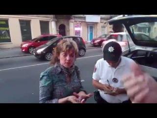Евромайдановка из Народного руха избита неизвестным в Одессе