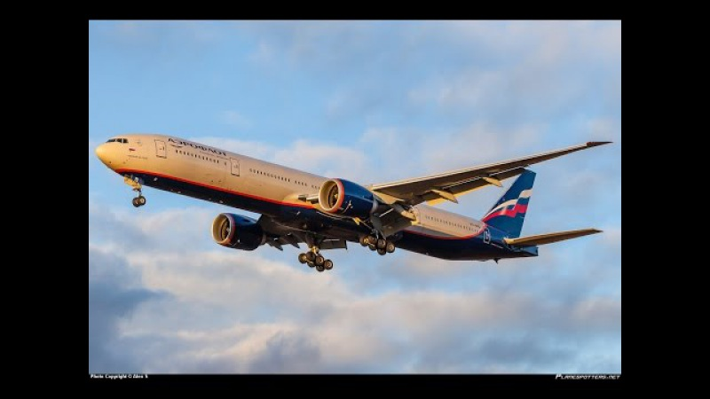 Aeroflot Boeing 777-200ER economy class Moscow to Sochi (Russian Federation)