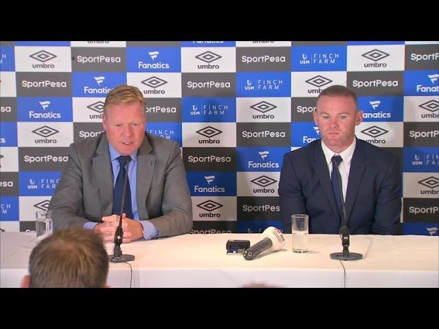 Wayne Rooney First Press Conference as a Everton player with Ronald Koeman | IN FULL