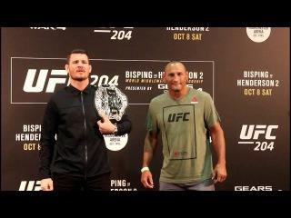 UFC 204 Staredowns Bisping vs. Henderson l UFC 204