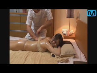 Cute girl oil massage with relax song
