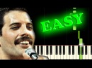 QUEEN - WE WILL ROCK YOU - Easy Piano Tutorial
