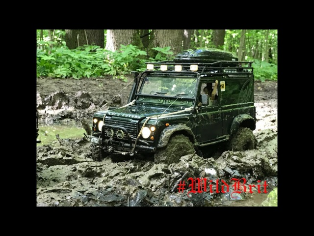 Rc Land Rover defender 90 WildBrit feat rc Land Rover defender 110 HCPU