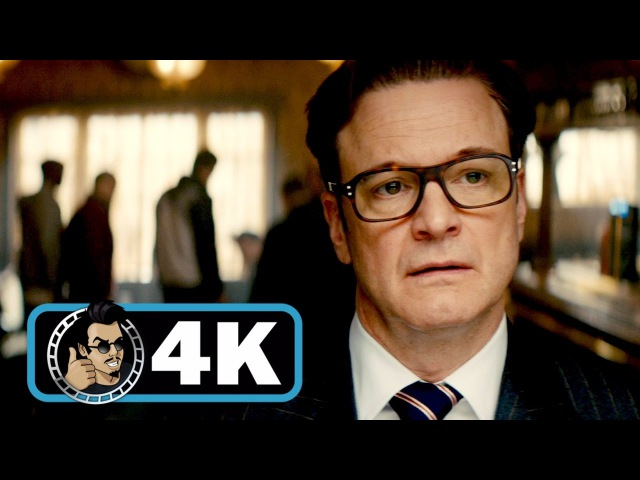 KINGSMAN THE SECRET SERVICE Movie Clip Bar Fight 4K ULTRA HD Colin Firth Action 2014