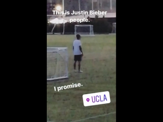 November 10th: fan taken video of justin at ucla