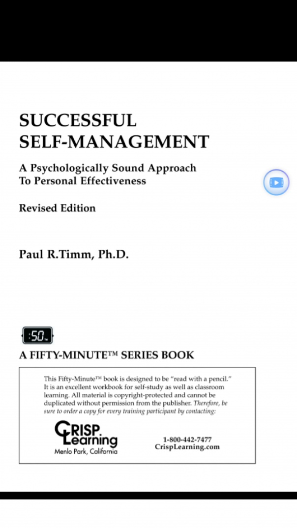 Successful Self-Management A Psychological