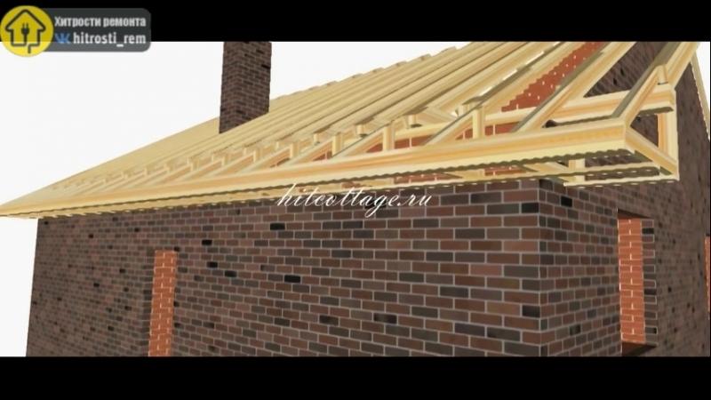 Пошаговое пособие по строительству крыши