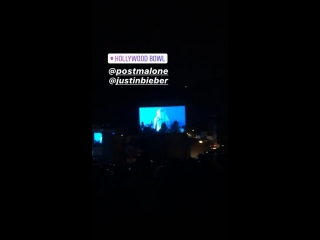 June 28: Justin on stage with Post Malone preforming Deja Vu in Los Angeles, California