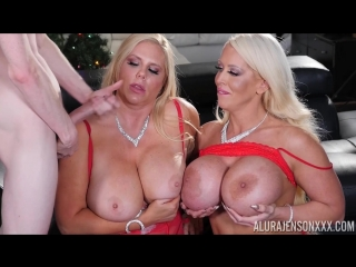 Big christmas present with alura jenson and karen fisher