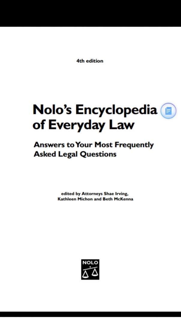 Nolo's encyclopaedia of every law