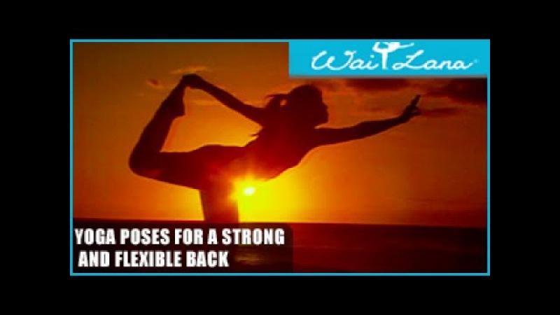Позы йоги для сильной и гибкой спины Wai Lana Yoga Yoga Poses for a Strong and Flexible Back Wai Lana Yoga