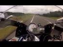Гонка мотоциклов на скорости 300 км/ч БМВ с1000рр и Хонда СБР 1000 РР в Германии