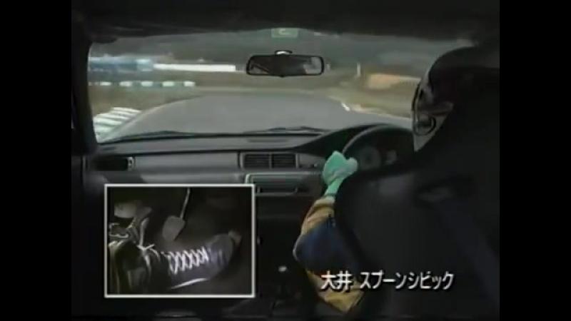 [ENG CC] FF vs FR - Spoon Civic EG6 B18C 190HP vs. Kei Office Silvia S14 300HP HV11