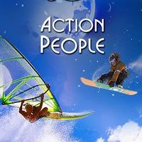 Логотип Туры в горы, на море, заграницу. Action People.