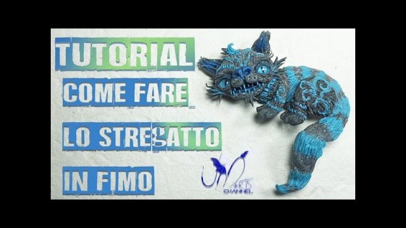 Come Fare lo Stregatto in fimo Alice Attraverso Lo Specchio Walt Disney DIY Tutorial