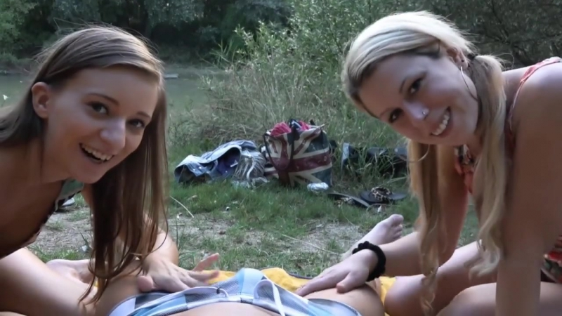 OUTDOOR ANAL CREAMPIE WITH TWO GIRLS HD, star, pov, big tits, big ass, new porn