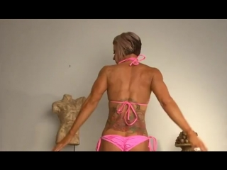 Muscle women with pink