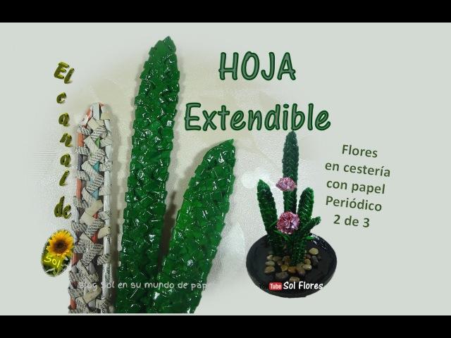 Hoja extendible flores en cestería con papel periódico 2 de 3 flowers baskets with newspaper