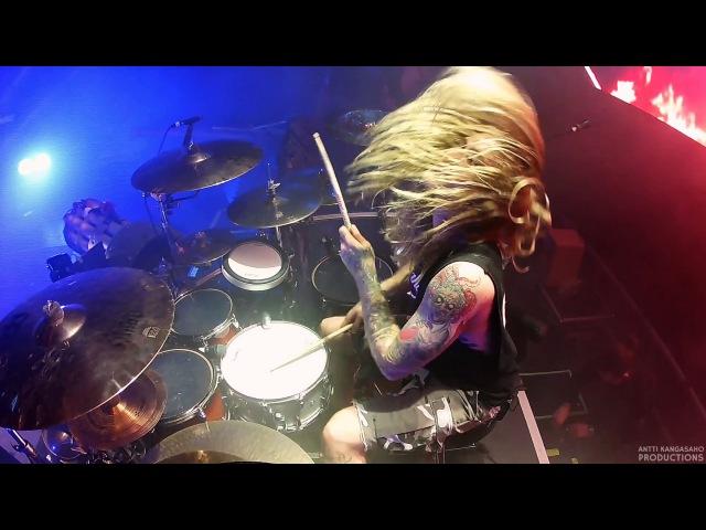 Hannes Van Dahl Sabaton Drumcam ' Primo Victoria' Helsinki Ice Hall Finland 24 2 2017