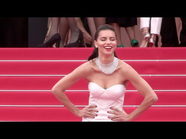 Adriana Lima stuns on the red carpet for the Premiere of Nelyubov in Cannes