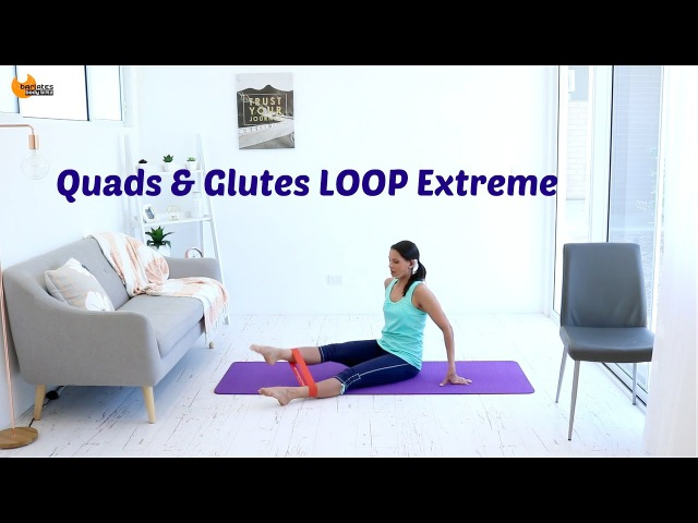 Glute Band Barre Workout BARLATES BODY BLITZ Quads and Glutes Loop Extreme with Linda Wooldridge