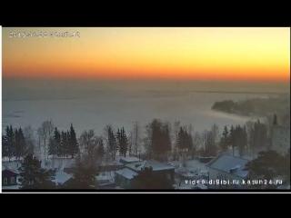 Веб-камеры К24. Морозный рассвет в Алтайском крае