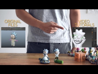 Tiny rick! 3d printing more fan requested rick and morty stuff