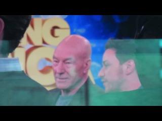 X Men stars Patrick Stewart & James McAvoy at Good Morning America promoting Days Of Future Past