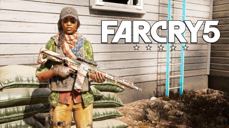 ГРЕЙС В ОГНЕ ЗАЩИТА МОГИЛ В ЦЕРКВИ И ПЛЕН Far Cry 5 3