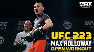 UFC 223: Max Holloway Open Workout - MMA Fighting ufc 223: max holloway open workout - mma fighting