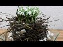 Frühlings Tischdeko mit Schneeglöckchen ❁ Deko Ideen mit Flora-Shop
