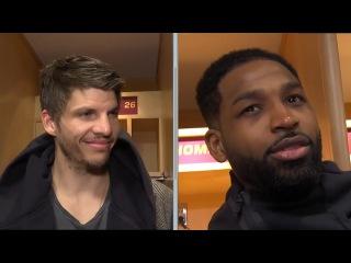 Kyle Korver & Tristan Thompson Postgame Interview   Heat vs Cavs   Jan 31, 2018   2017-18 NBA Season